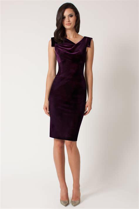 Dress Stretch Wedges Dress black halo velvet jackie o dress in purple lyst