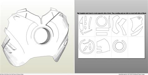 iron helmet template foamcraft pdo file template for iron 4 6