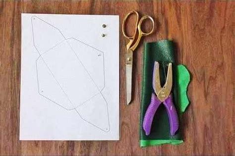cara membuat kerajinan tangan aksesoris cara membuat aksesoris wanita dompet amplop kulit 1
