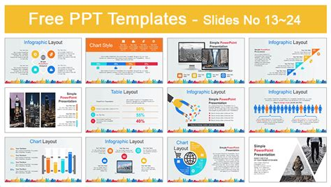 City Buildings Business Powerpoint Template Powerpoint Templates Free Business Presentations