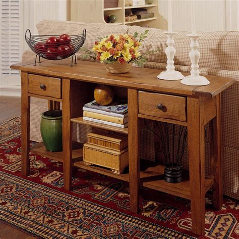 Decorating A Sofa Table A by Broyhill Furniture Attic Heirlooms Rectangular Sofa Table