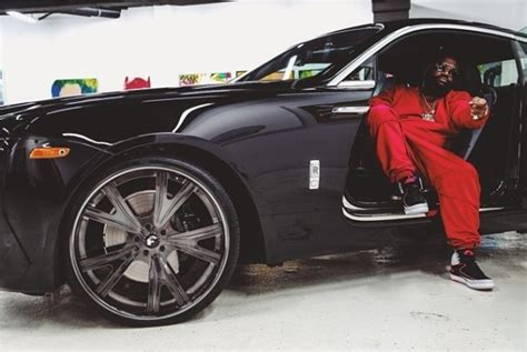 roll royce wraith rick ross rick ross throws some wheels on his wraith celebrity