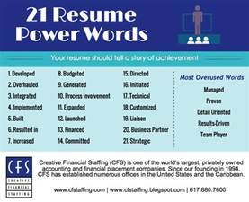 Resume Power Words And Phrases ? Perfect Resume Format