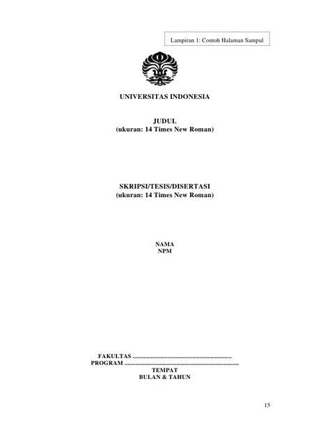pernyataan tesis adalah pedoman ta ui sk rektor 2008