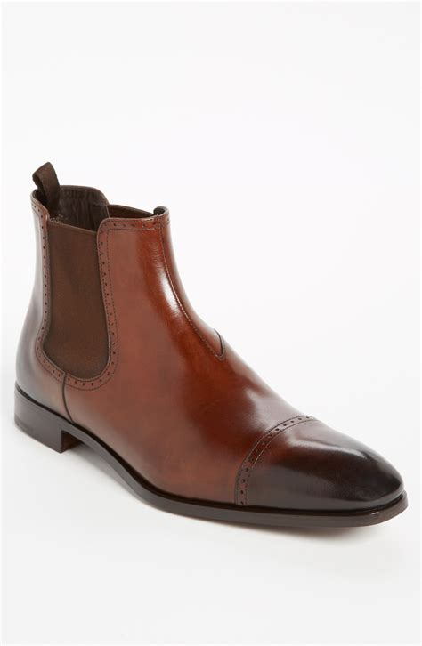 prada chelsea boot in brown for lyst