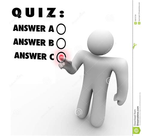 Drawing Quiz by Quiz Choice Choosing Best Answer Test Stock