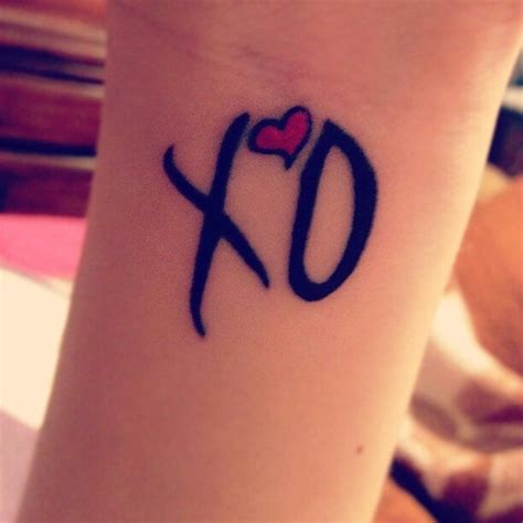 xo tattoo ideas 26 best images about x o the weeknd on we