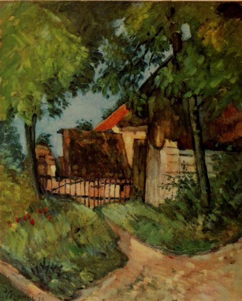 cottage in the trees circa 1873 by paul cezanne