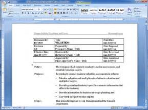 Policy Handbook Template by Financial Policy Manual