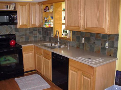 Slate Backsplashes For Kitchens Slate Backsplash Wolf Custom Tile And Design