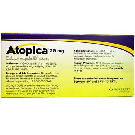 atopica for dogs atopica for dogs 9 1 16lbs 25mg 30 caps