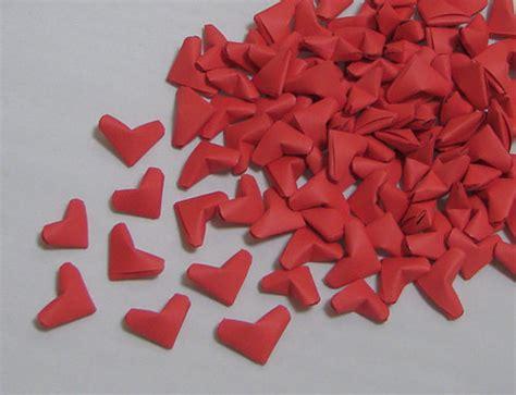 Tiny Origami Hearts - small origami hearts 100 paper hearts