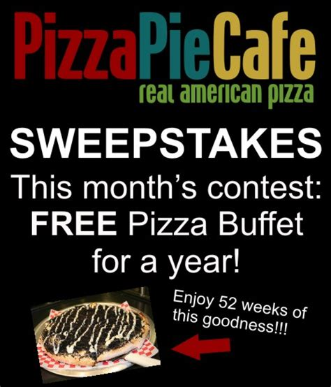 Sweepstakes Cafe Locations - win free pizza pie cafe for a year closed fabulessly frugal