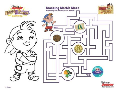 printable pirate maze 1000 images about disney junior on pinterest