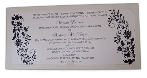 indian muslim wedding card templates invitation wording uk and menaka card wedding shop