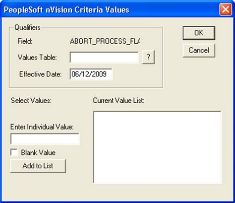 Peoplesoft Nvision by Applying Filter Criteria