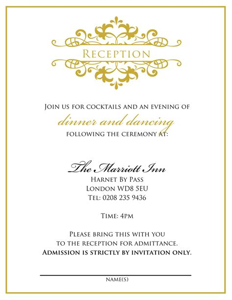 Wedding Banquet Invitation Letter invitation letter for engagement ceremony invitation