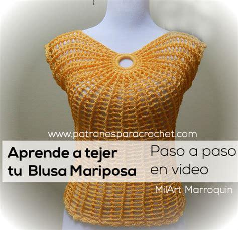 imagenes de cuellos a crochet imagui aprende a tejer blusa mariposa tutorial patrones para