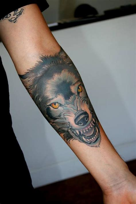 tattoo new school wolf wolf by jeff norton tattoonow