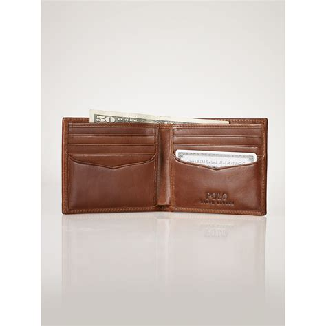 Polo Wallet For polo ralph tartan leather wallet for lyst