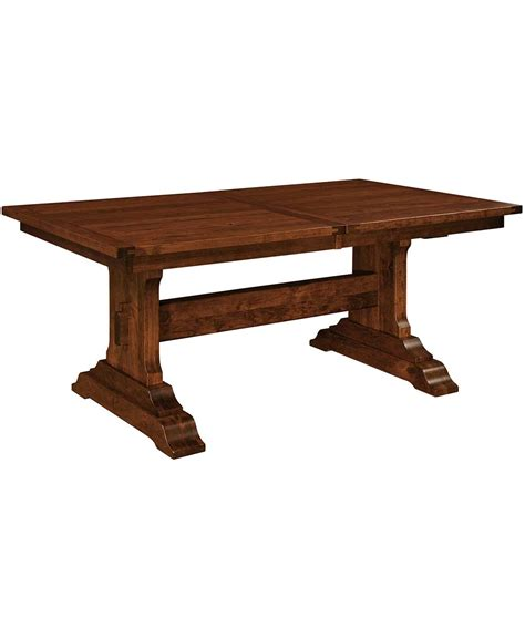 Dining Table Trestle Manchester Trestle Dining Table Amish Direct Furniture