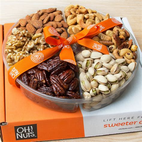 christmas holiday gourmet food baskets nuts gift basket mixed nuts 7 different nuts five star gift baskets gourmet freshly roasted 6 section large nut tray anniversary birthday nut