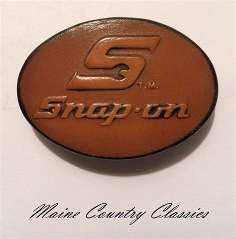 vintage snap on tools leather belt buckle great american