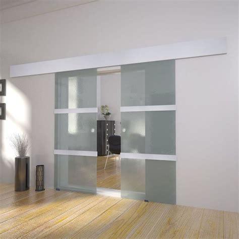 porta in vetro scorrevole vidaxl doppia porta scorrevole in vetro