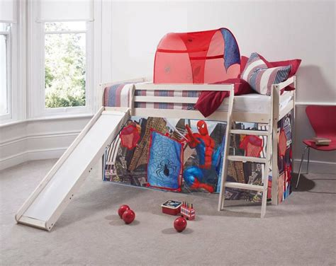 spiderman bunk bed spiderman cabin bed slide w mattress with tent