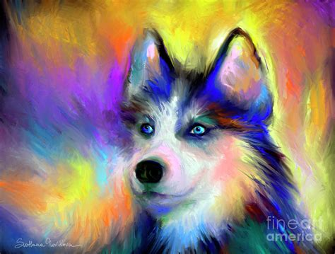 dogs painting pop abstract breeds picture