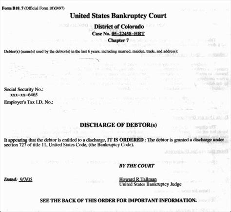 How To Get A Copy Of Court Records Bankruptcy Discharge Papers Best Papers 2018
