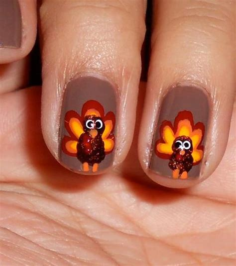 diy nail art thanksgiving 2013 festive designs for your