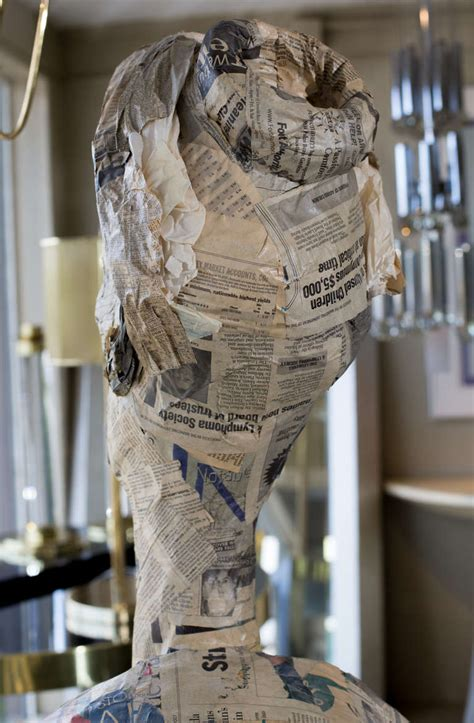 How To Make A Paper Mache Statue - paper m 226 ch 233 figure sculpture at 1stdibs