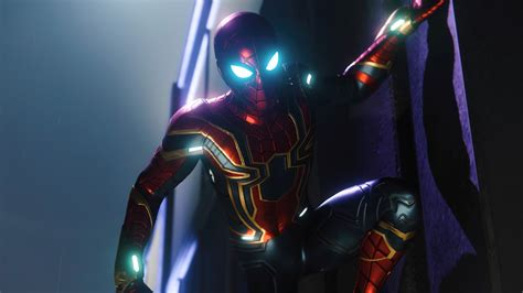 spiderman ps iron spider suit hd games wallpapers