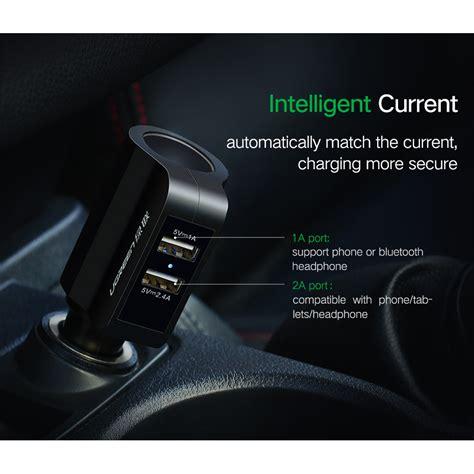 Murah Usb Charger Motor 2 Port Dengan Cigarette 12v ugreen car charger 2 usb port 3 4a dengan cigarette cd115 black jakartanotebook