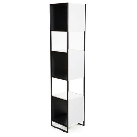 Slim Black Bookcase Buy Stil Contemporary Satin White Slim Bookcase From
