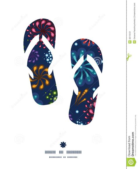 Flips Graphic Design   vector holiday fireworks flip flops silhouettes stock