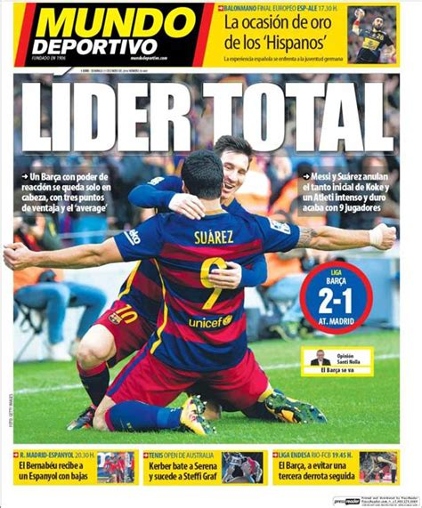 mundodeportivo mundo deportivo el diario deportivo online portada mundo deportivo l 237 der total fc barcelona noticias
