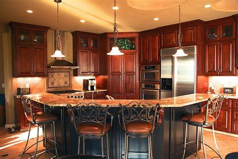 cherry wood kitchen island 40 magnificent kitchen designs with cabinets architecture design