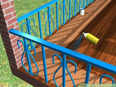 how to paint porch railings 12 steps with pictures wikihow