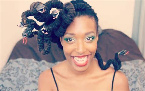 medusa hairstyles halloween hair o ween medusa locs video un ruly