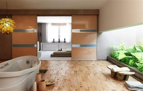 awesome Bathroom Wall Decorating Ideas Small Bathrooms #1: modern-bedroom-bathroom-design-partition-walls-3.jpg