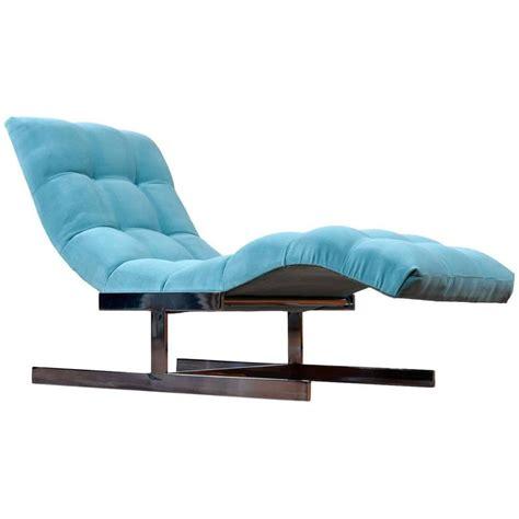 mid century chaise restored mid century modern milo baughman style wave