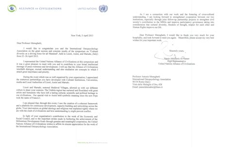 Thank You Letter United Nations Post Event Thank You Letter Choice Image Letter Format Exles