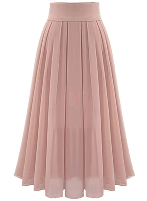 High Waist Pleated Dress high waist maxi chiffon pleated skirt stylesimo