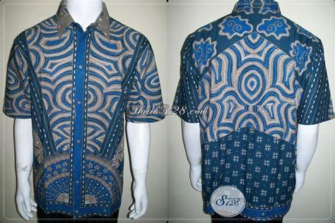 Blus Batik Biru Xl kemeja batik modern pria baju batik terbaru warna biru