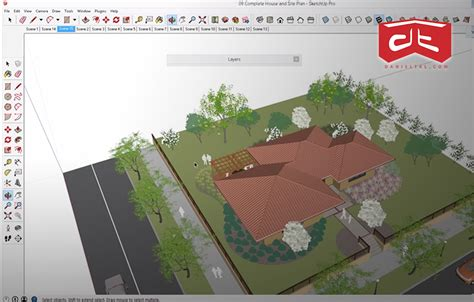 tutorial sketchup landscape sketchup features land f x