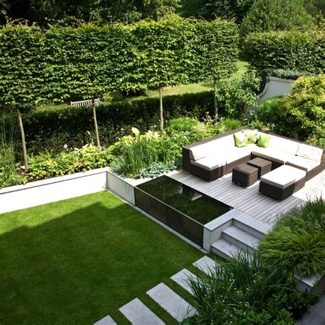 Modern Backyard Design Ideas Landform Consultants St Margarets Contemporary Garden Design Landscape Patio Pinterest