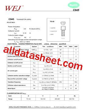c945 npn transistor datasheet filetype pdf c945 transistor datasheet pdf 28 images c945 datasheet pdf rectron semiconductor c945