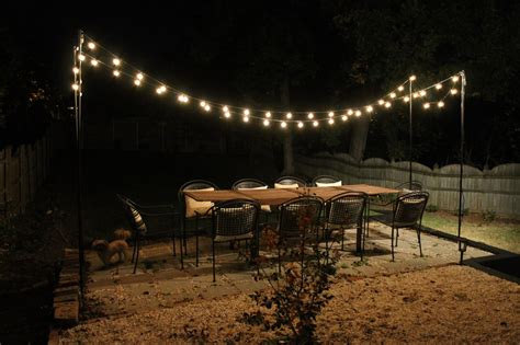 Patio Light String Diy String Light Patio House Elizabeth Burns